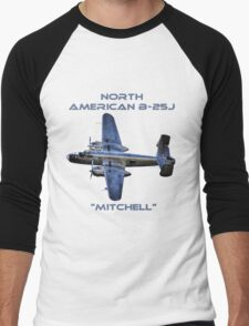 "North American B-25J ""Mitchell"" - Red Bull Men's Baseball ¾ T-Shirt"
