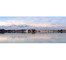 Dal Lake after a snowy night  Photographic Print