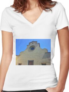 Cathedral without Facade Women's Fitted V-Neck T-Shirt