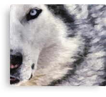wolf brush Canvas Print