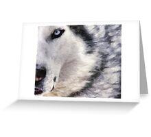 wolf brush Greeting Card