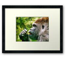 gorilla brush Framed Print