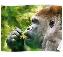 gorilla brush Poster