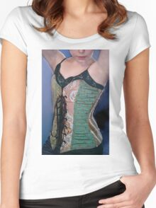 Corset Girl 2 Women's Fitted Scoop T-Shirt