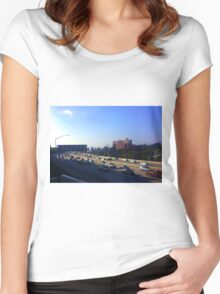 Rush Hour in Los Angeles Women's Fitted Scoop T-Shirt