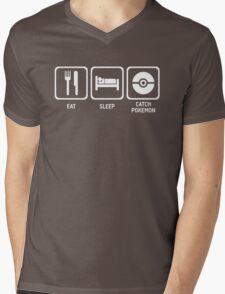 Eat Sleep Catch Mens V-Neck T-Shirt