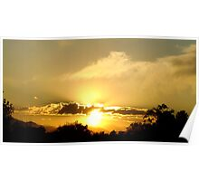 Rockies Sunset Poster
