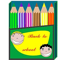 Back to school pencils by Laschon Robert Paul