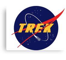 NASA Star Trek Logo Parody Canvas Print