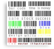 Bar codes Canvas Print