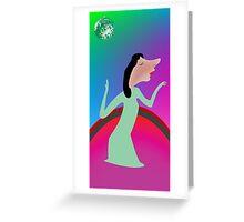 Beautiful girl dancing Greeting Card