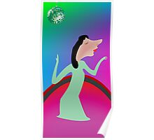 Beautiful girl dancing Poster