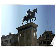 Venetian Statue Poster