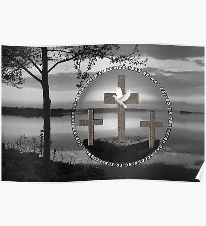 † ❤ † HE HAS RISEN  WITH BIBLICALTEXT † ❤ † Poster