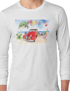 1939 Pontiac Woody:  On San Onofre State Beach (Trestles)  Long Sleeve T-Shirt
