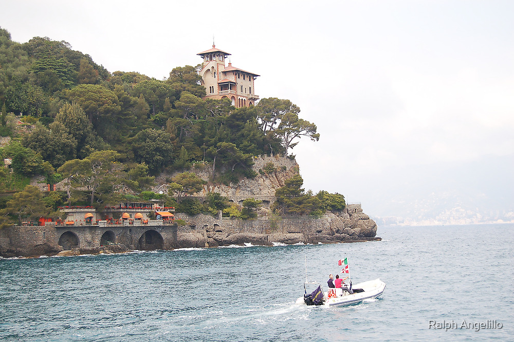 Portofino:  House on the Hill by Ralph Angelillo