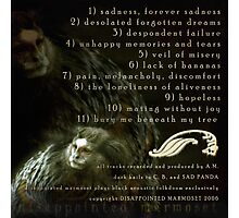 DISAPPOINTED MARMOSET - The Inevitable Failure of Existence (track listing)... Photographic Print