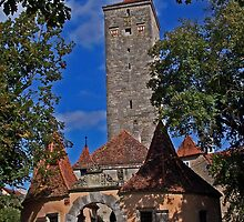 Rothenburg  - Burgtor #1 2009 by David J Dionne
