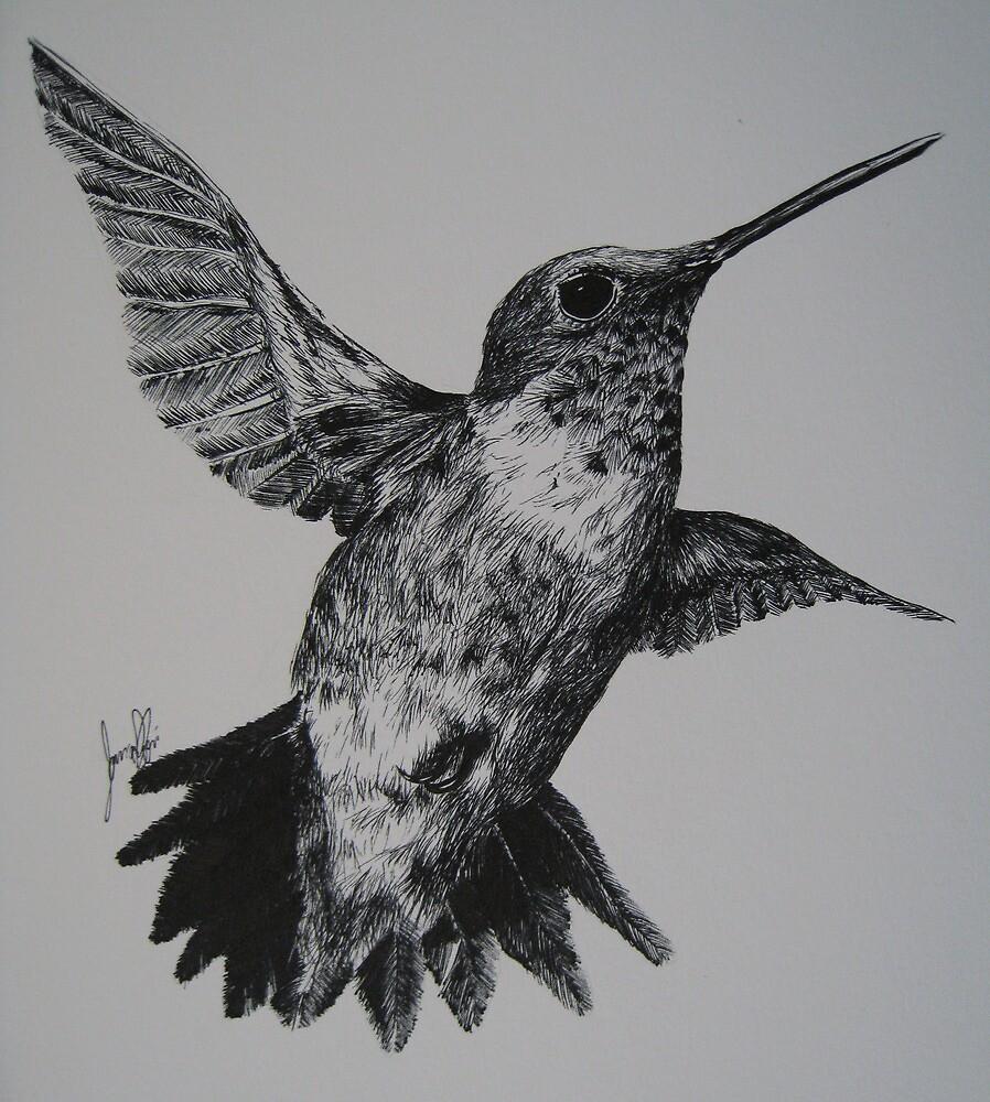 Ruby-Throated Hummingbird by iseejamespeople
