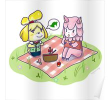 Animal Crossing Isabelle Picnic Poster