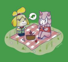 Animal Crossing Isabelle Picnic Kids Tee