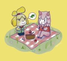 Animal Crossing Isabelle Picnic Baby Tee