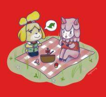 Animal Crossing Isabelle Picnic Kids Tee
