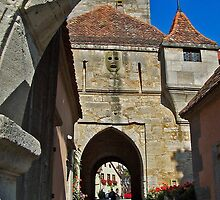 Rothenburg  - Burgtor Archway by David J Dionne