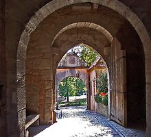 Rothenburg  - Burgtor Archways by David J Dionne