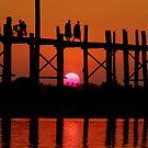 Sunset at U - Bein Bridge  by Brian Bo Mei