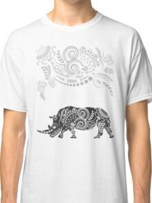 Ornate Indian Rhino Classic T-Shirt