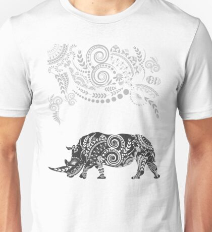 Ornate Indian Rhino Unisex T-Shirt