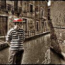 Man in Venice by Laurent Hunziker