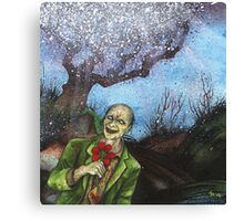 """Zombies Have Happy Places Too"" Canvas Print"