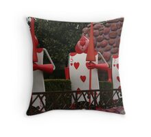 The Queen of Hearts' Guards Throw Pillow