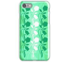 Layered Floral Silhouette Print (7 of 8 please see notes) iPhone Case/Skin