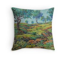 Good Pasture Poor Land for Farming Throw Pillow