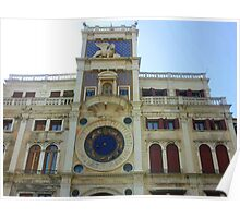 The Clock Tower at Piazza San Marco Poster