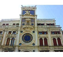The Clock Tower at Piazza San Marco Photographic Print