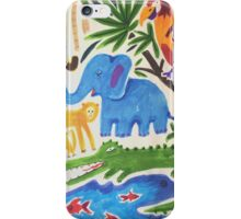 tropical camo with crocodile iPhone Case/Skin