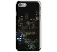 Downtown Houston at Night iPhone Case/Skin