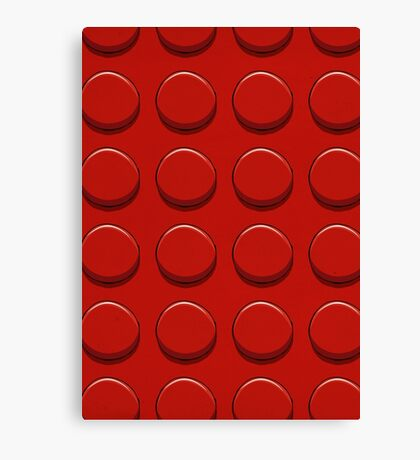 Red Lego Canvas Print