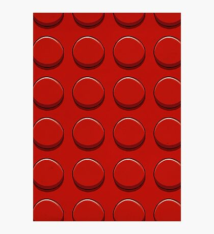 Red Lego Photographic Print