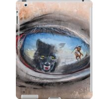 Buffalo Sunset - The challenge between man, horse and wolf... iPad Case/Skin