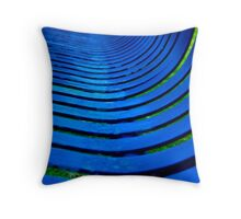 Curvy Blues Throw Pillow