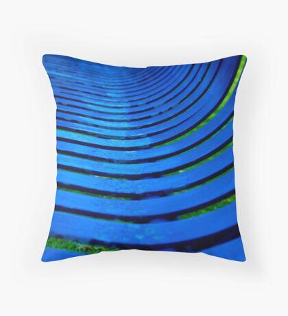 Curvy Blues Throw Pillow