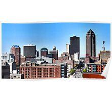 Skyline, Des Moines Iowa Poster