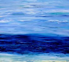 Ocean mood #2 - brooding by Regina Valluzzi