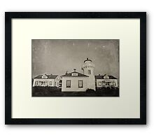 Vintage Mulkiteo Lighthouse Station Framed Print