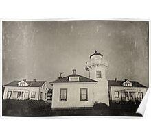 Vintage Mulkiteo Lighthouse Station Poster